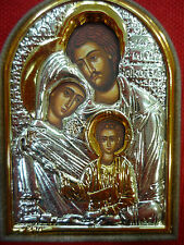 Holy Family Icon Sterling Silver 925 Jesus Joseph & Mary From Holy Land Israel