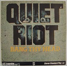 QUIET RIOT - Bang Thy HEAD  Heavy Metal Band Video Debut  RaRe Laserdisc Edition