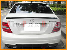 2008-2014 W204 C250 C300 C350 4Dr #040 Black DP-Type Trunk Lip & OE Roof Spoiler