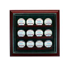 12 Baseball Gl Cabinet Display Case New Uv Box Mlb Free Shipping