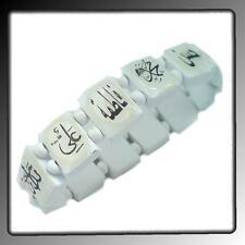 Allah Ali Fatima Armband Kette Armschmuck Schmuck Holzarmband Islam Weiß