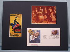 Satchmo the Great starring Louis Armstrong &  First day Cover of his stamp