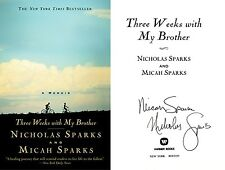 Nicholas Sparks / Micah Sparks SIGNED 2X Three Weeks with My Brother 1st/1st HC