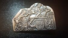 LARGE PIN BADGE ZURGILGEN WOLF - GISWIL 1982