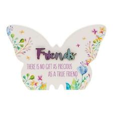 Friend Gift - Floral Butterfly Colourful plaque with sentiment 66251