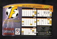 San Diego Flash--1999 Magnet Schedule