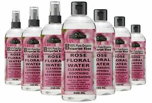 100% Pure Natural Organic Rose Water Toner Cleanser, Moisturizer For Fresh Face