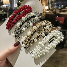 Mode Corée Femme Métal Eau Goutte Perle Cristal Epingles à Cheveux Barrette L