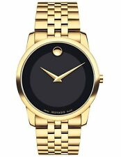 Movado Museum Classic 0606997 Black/Gold Stainless Steel Quartz Men's Watch