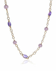 Mimi Milano Leela 18k Rose Gold And Pearl Necklace C266R3A MSRP $7559