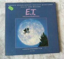ET The ExtraTerrestrial Vinyl LP Book, Poster Narrated by Michael Jackson.1982