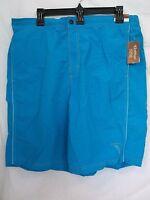Caribbean Roundtree & Yorke 2XB Big Turquoise New Mens Swimming Trunks Shorts