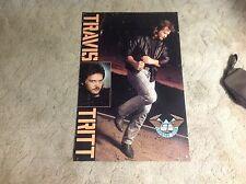 Cd Lp Promo Poster Travis Tritt 36x24apx nashville country music vintage.