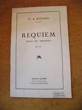 Spartito Requiem W Un Mozart Missa pro Defunctis Op 626