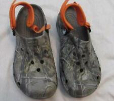 CROCS mens 9 womens 11 camo green orange clogs sandals camouflage