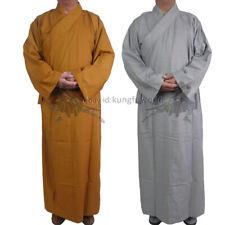 Cotton Shaolin Temple Buddhist Monk Dress Meditation Long Robe Kung fu Suit