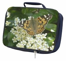 Painted Lady Butterfly Navy Insulated School Lunch Box Bag, IBU-12LBN