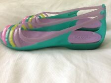 Crocs Isabella Island Aqua Purple Pink Green Comfort Strappy Sandals Women 8