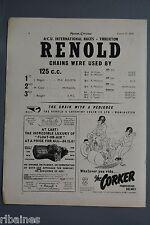 R& L Ex-Mag Advert: Renold Chain Thruxton, Corker Helmet / Terry's Aero Springs