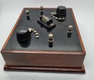 Vintage Homemade Crystal Radio Morse Telegraph etc DIY Wireless Atlas