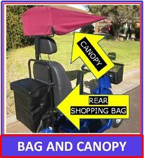 SALE! Mobility Scooter Canopy & Rear Shopping Bag Set Rain Canopy & Shopping Bag