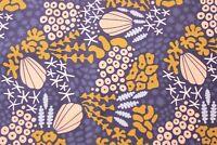 Cloud 9 Fabric Organic Cotton Poplin Reef Navy Quilting Fabric Half Metre