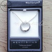 Equilibrium Inspirational Silver Ring Necklace Gift Boxed Women Ladies Her