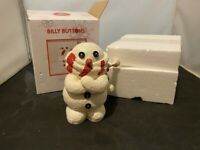 DEPARTMENT 56 BILLY BUTTONS SNOWMAN BUDDLED WEARING SCARF FIGURINE IN BOX
