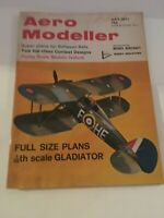 Aero Modeller Magazine July 1971 Model Aircraft Airplanes 1:36 Gladiator Plan