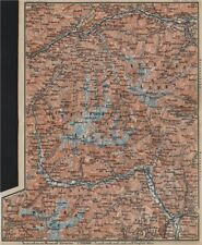 TYROL/ UPPER INNTHAL ÖTZTHALER ORTLER STUBAIER ALPEN topo-map. Austria 1905
