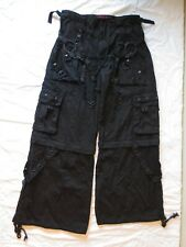 Tripp NYC Black Pants / Shorts Zip-Off Goth Punk Bondage Studs Handcuffs Chains