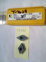5 NEW KENNAMETAL DNMG 432 CARBIDE INSERTS. DNMG 15 04 08B. GR. K68. {Q120}
