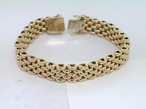 Armband 585 Gelbgold 14Kt Gold breites Schmuckarmband 28,42 Gramm