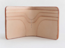 men women wallet purse cow Leather Card Cases ID bifold bag customize beige Z823