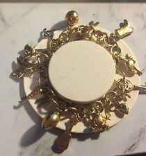 20cm Solid link Yellow Gold Vintage handmade Estate Charm Bracelet 9ct 33.4g