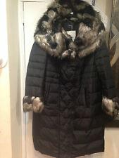 Women's Outerwear Winter Black faux fur hooded Down coat jacket plus 1X 2X 3X 4X