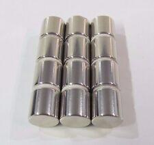 "5/8"" N52 Magnet Cylinder 12 pcs Neodymium Rare Earth .625"" 16mm Super Strength"