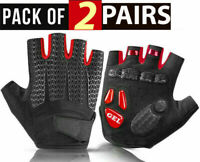 Bike Bicycle Cycling Half Finger Gel Pad Gloves Sports Gym Fitness for Men Women