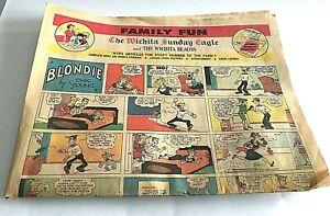 1963 Sunday Newspaper Comics Section Blondie Archie Peanuts Dennis The Mennace