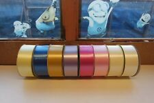 """8 X FLORIST POLY RIBBON 100 YARDS 2"""" ASSORTED COLOURS"""