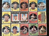 ⚾️1959 Topps Baseball Kansas City A's  Lot Of 15 Roger Maris #202⚾️