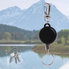 Fishing Zinger Retractor Key Ring Holder Retractable 60cm Anti Lost Steel Cable