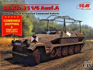 ICM 35102 - 1/35 German Armoured Command Vehicle SD.KFZ.251/6 AUSF.A, WWII