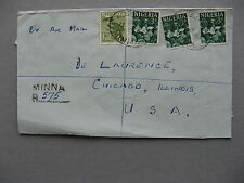 NIGERIA, R-cover to the USA 1964, bird pottery