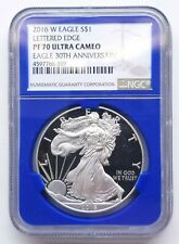 2016-W SILVER EAGLE LETTERED EDGE NGC PF70 UC ULTRA CAMEO 30TH ANNIVERSARY!