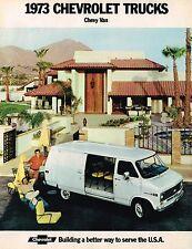1973 Chevy VAN Brochure w/ Color Chart: G10,G20,G30,G-10,20,30,ChevyVan,110,125,