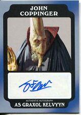 Star Wars Rogue One Mission Briefing Black Autograph Card J C as Graxol Kelvyyn