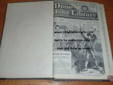 DIME NOVEL BEADLE'S NEW YORK DIME LIBRARY BOUND VOLUME 13 NEWSPAPER STORY PAPER