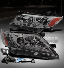 07-09 TOYOTA CAMRY LED SMOKE PROJECTOR HEAD LIGHT W/BLUE DRL+6K HID CE LE SE XLE