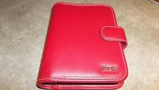 Franklin Covey Day One Red Faux Leather Compact Planner 6 Ring Binder